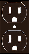 Brown Decorative Electrical Outlet Covers