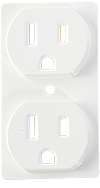 White Decorative Electrical Outlet Covers